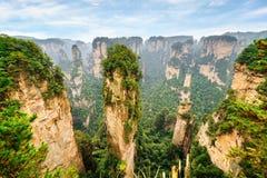 美丽的石英砂岩柱子具体化哈利路亚山 免版税图库摄影