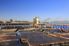 美丽的码头39和灯塔 免版税库存图片