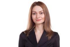 美丽的确信的女实业家 免版税库存照片
