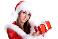 美丽的礼品节假日妇女 免版税库存图片