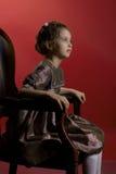 美丽的礼服女孩佩带的一点 免版税库存图片