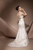 美丽的礼服婚礼妇女年轻人 免版税库存照片