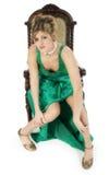 美丽的礼服正式妇女年轻人 库存照片