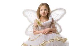 美丽的礼服矮子女孩 免版税库存照片