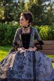 美丽的礼服葡萄酒妇女 库存图片