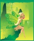 美丽的神仙的绿色酸 库存图片