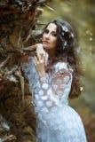 美丽的神奇纵向妇女 库存图片
