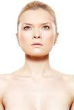 美丽的秀丽干净的模型皮肤软的温泉 图库摄影
