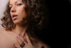 美丽的秀丽珠宝妇女 库存照片
