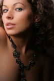 美丽的秀丽珠宝妇女 免版税库存照片