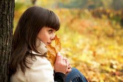 美丽的秋天纵向妇女 图库摄影