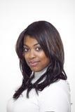 美丽的种族高领衫佩带的妇女 免版税库存照片