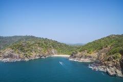 美丽的秘密海滩蝴蝶 果阿旅游状态在印度 免版税库存图片