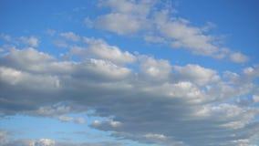 美丽的积云横跨天空蔚蓝,Timelapse快速地移动 自然颜色秀丽  股票视频