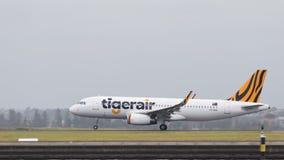 美丽的空中客车A320-232泰格航空公司澳大利亚 免版税库存照片