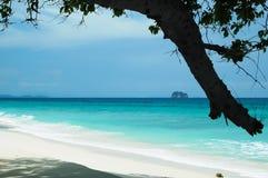 美丽的空白沙子海滩 库存照片
