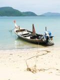 美丽的空白沙子海滩 图库摄影