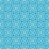 美丽的窗口设计在蓝色口气的无缝的背景样式例证 免版税库存照片