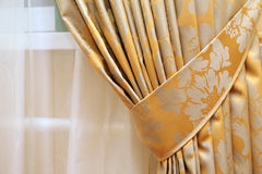 美丽的窗帘 免版税库存图片