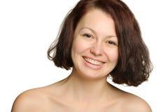 美丽的笑的妇女年轻人 免版税库存图片