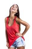 美丽的笑的妇女 免版税图库摄影