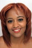 美丽的红头发人, Headshot 库存照片