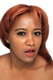 美丽的红头发人, Headshot 图库摄影