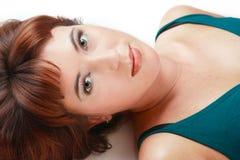 美丽的红头发人 免版税库存照片