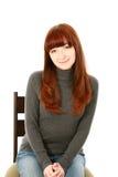 美丽的红色头发青少年的女孩 免版税库存照片