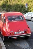 美丽的红色雪铁龙2 CV6专辑 库存图片
