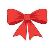 美丽的红色蝴蝶结 免版税库存照片