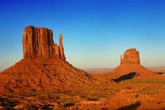 美丽的纪念碑美国犹他谷 免版税库存图片