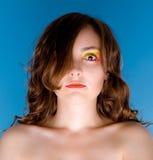 美丽的纵向妇女 免版税图库摄影