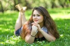 美丽的纵向松弛妇女年轻人 库存图片
