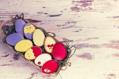美丽的给上釉的鸡蛋 免版税库存照片