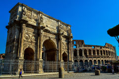 美丽的罗马斗兽场的惊人的看法,罗马,意大利 库存照片