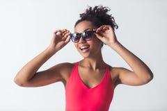 美丽的美国黑人的女孩 图库摄影