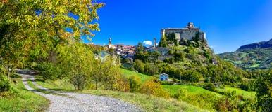 美丽的老中世纪城堡,巴尔迪,意大利 免版税库存照片