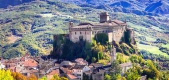 美丽的老城堡,巴尔迪,伊米莉亚罗马甘,意大利 库存照片