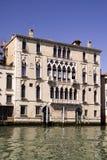 美丽的老大厦在威尼斯意大利 库存图片