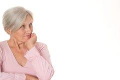 美丽的老妇人 免版税图库摄影