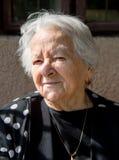 美丽的老妇人 免版税库存照片
