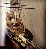 美丽的老模型小船 库存图片