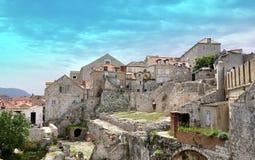 美丽的老镇在杜布罗夫尼克,克罗地亚 库存照片