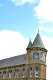 美丽的老阿伯斯威斯大学大厦在威尔士 库存照片