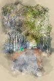 美丽的胡同在一个公园在巴黎 免版税库存图片