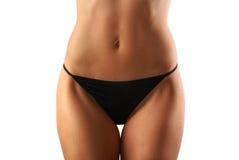 美丽的腹部妇女年轻人 免版税库存照片