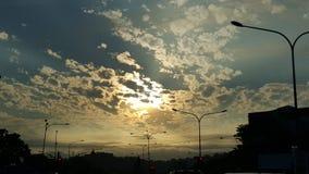 美丽的自然天空 免版税库存照片