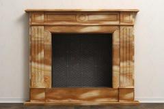 美丽的自然石头时髦的家庭壁炉  图库摄影