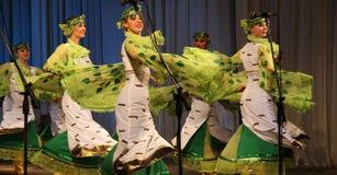 美丽的舞蹈演员 库存图片